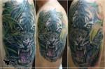 тигр на плече тату