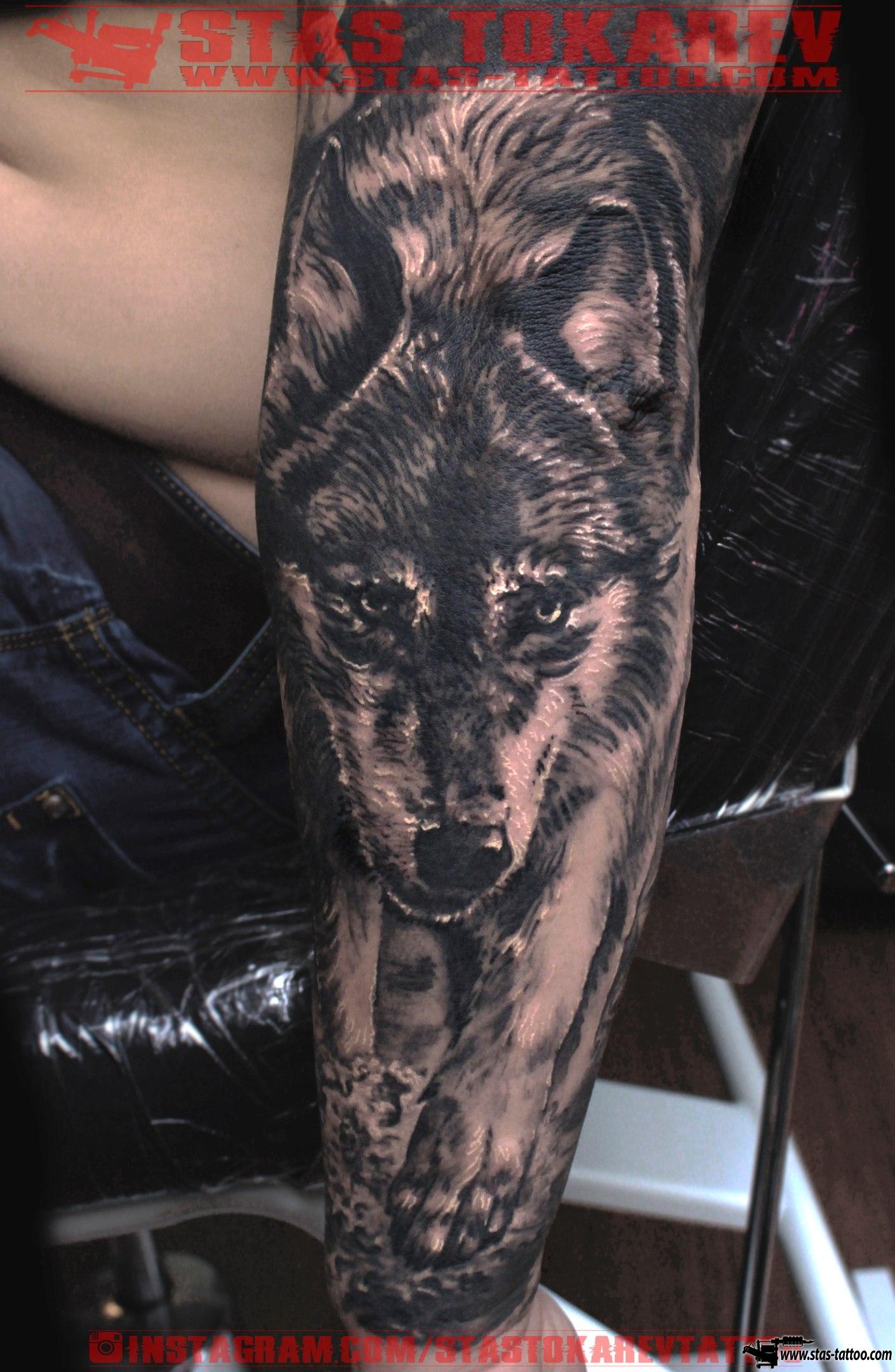 «Татуировка волка с волчицей и волчатами» карточка. - Яндекс